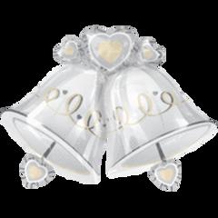 """Wedding Bells Super Shape Balloon 35"""""""