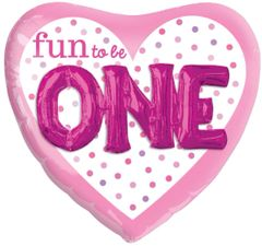 Fun To Be One Girl Super Shape Balloon 36""