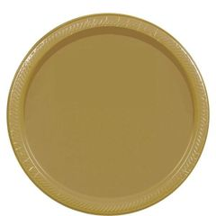 """Gold Lunch Plates, 9"""" - 20ct"""