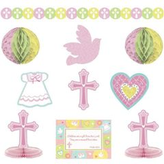 Pink Sweet Religious Room Decorating Kit, 10pc