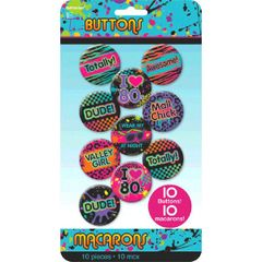 Totally 80's Buttons