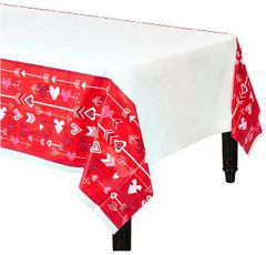 Valentine Wishes Plastic Table Cover