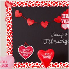 Valentine Bulletin Board Borders, 12ct