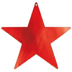 Apple Red Foil Star Cutouts