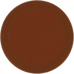 "Chocolate Brown Dessert Plates, 7"" - 20ct"