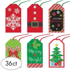 Modern Christmas Gift Tags, 36ct