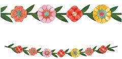 "Bright Floral Banner, 6ft 4"""