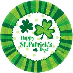 """St. Patrick's Day Cheer Lunch Plates, 9"""""""