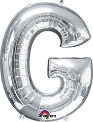 "Silver Letter G - 34"" Mylar"