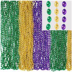 Mardi Gras Bead Necklaces, 100ct