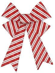 Striped Candy Cane Bow