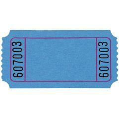 Blue Blank Ticket Roll
