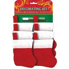 Mini Christmas Stocking Decorating Kit
