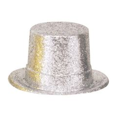 Silver Hollywood Top Hat