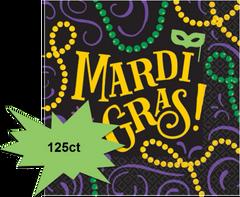 Mardi Gras Beverage Napkins, 125ct