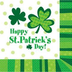 St. Patrick's Day Cheer Beverage Napkins