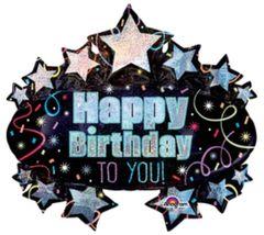 "Brilliant Birthday Marquee Super Shape Balloon 31"""