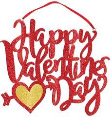 Valentine's Day Foam Glitter Sign
