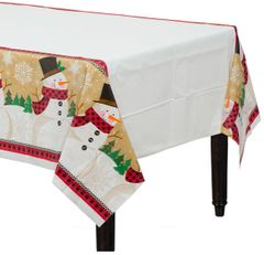 Winter Wonder Plastic Table Cover