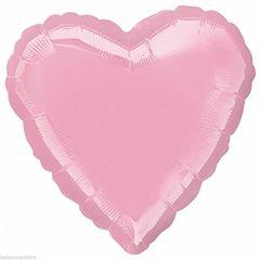 Heart 33 Iridescent Pearl Pink Mylar Balloon 18in