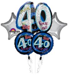 Oh No It's My 40th Birthday Balloon Bouquet 26""