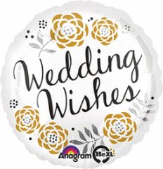 Wedding Wishes Balloon 18""