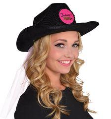 Sassy Bride Cowboy Hat w/Veil