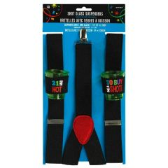 21st Brilliant Birthday Shot Glass Suspenders