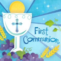 Boy's First Communion Lunch Napkins, 36ct
