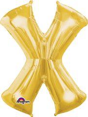 """Gold Letter X - 34"""" Mylar"""