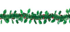 Holly Leaves & Berries Tinsel Garland