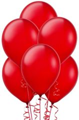 Apple Red Solid Color Latex Balloons, 72ct