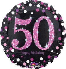 "Pink 50th Celebration 18"""
