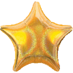 Dazzler Star 03 Gold Mylar Balloon 19in