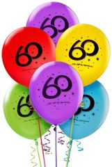 """60"" Printed Latex Balloons"