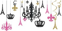 A Day in Paris Chandelier Decorating Kit, 17pc