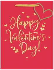 Happy Valentine's Day Medium Vertical Gift Bag