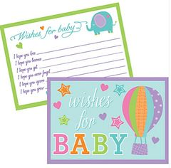 Baby Shower Wishes For Baby Cards, 24ct