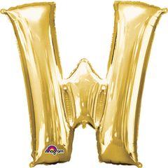 "Gold Letter W - 34"" Mylar"