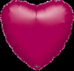 Heart 37 Fuchsia Mylar Balloon 18in