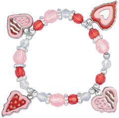 Heart Charm Bracelet w/Charms