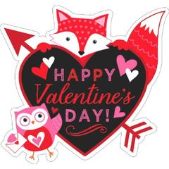 Valentine Woodland Friends Cutout