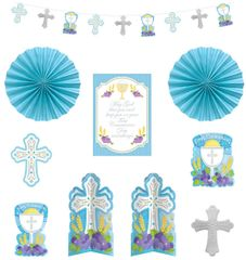 Blue First Communion Decorating Kit, 10pc