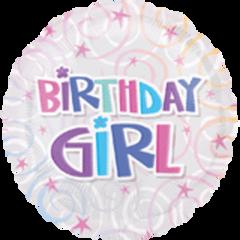 "Birthday Girl Swirls 18"""