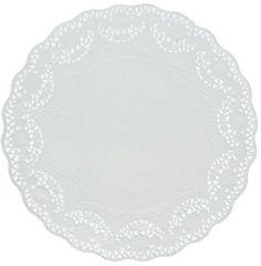 "White Round Paper Doilies, 6"" - 40ct"