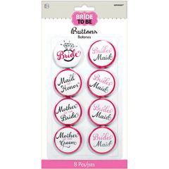 Elegant Bride Buttons