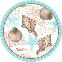 By The Sea ECO Round Plates,10 1/2""