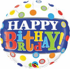 Happy Birthday Banner & Polka Dots 18in