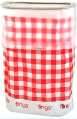 Gingham Flings® Bin - Pop-Up Trash Bin