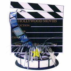Lights! Camera! Action! Printed Paper Centerpiece w/Foil Spray